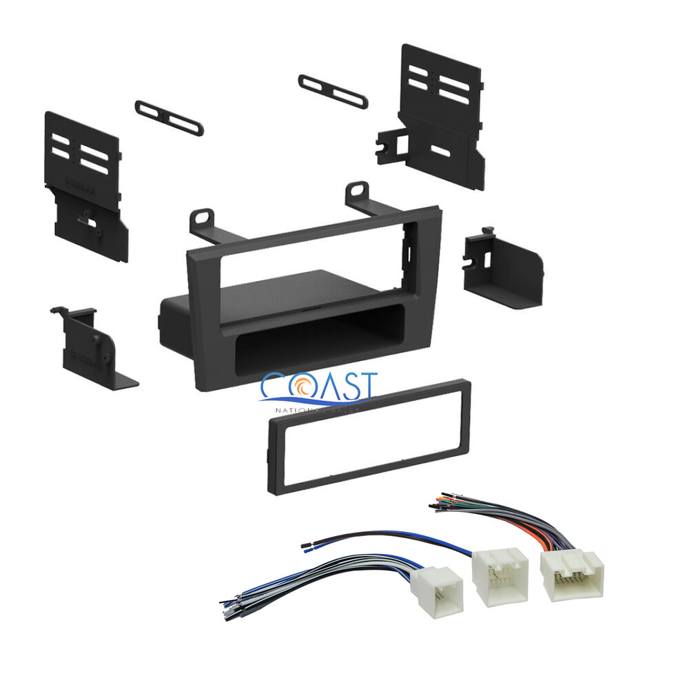Single Din Car Radio Stereo Dash Kit Wiring Harness For