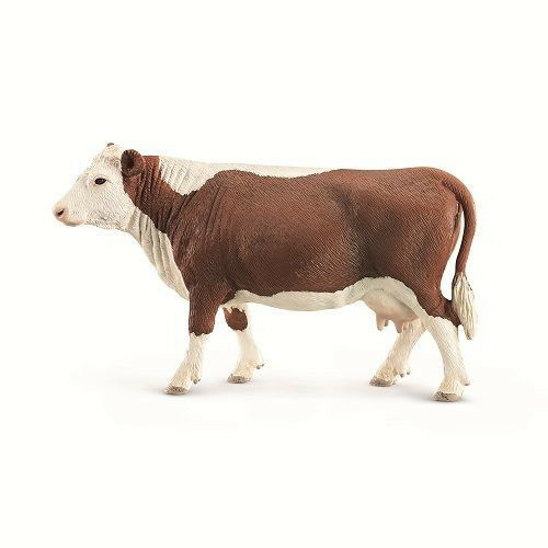 Small Toy Cows : Schleich hereford cow model toy cattle figurine