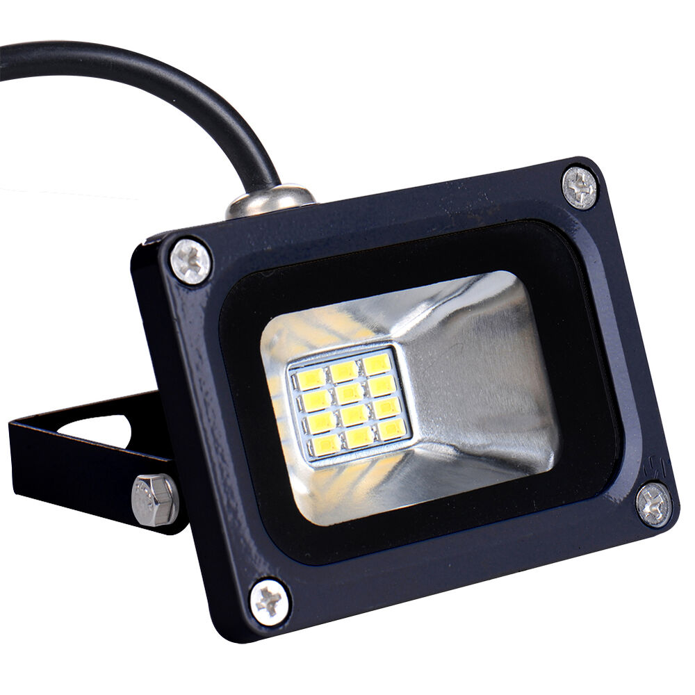 10w flood light led 12v spot light warm white floodlight outdoor garden lamp ebay. Black Bedroom Furniture Sets. Home Design Ideas
