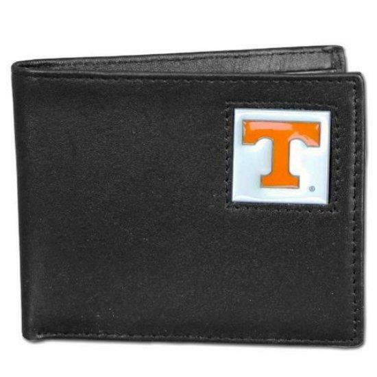 Tennessee volunteers leather bi fold wallet black 2 flip for 2 id window wallet
