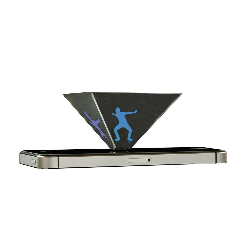 HOLOQUAD HOLOGRAPHIC PYRAMID 3D MOBILE PROJECTOR HOLOGRAM