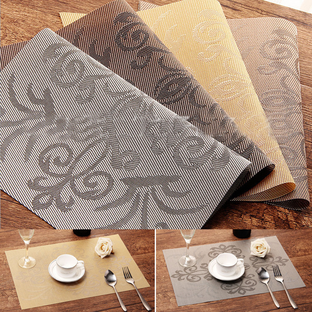 Dining Room Table Placemats: 4xWestern Creative Mats Insulation Bowl Table Printing