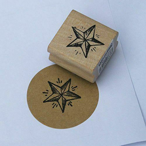 East of india small detailed star rubber stamp christmas for Custom craft rubber stamps