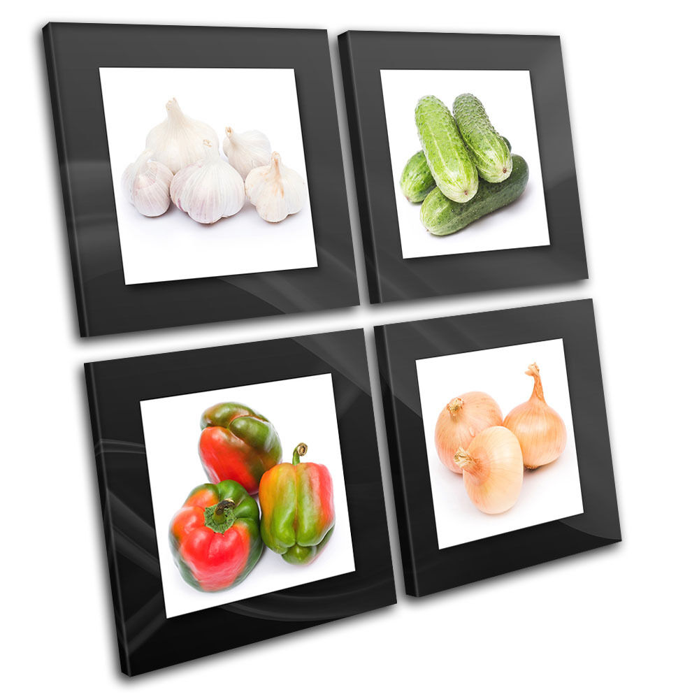 Fresh Vegetable Food Kitchen MULTI CANVAS WALL ART Picture