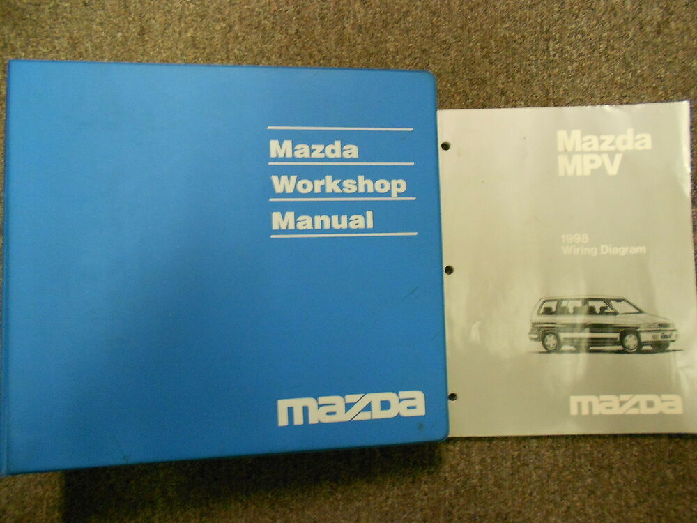 1998 Mazda Mpv Van Service Repair Shop Manual Set Factory