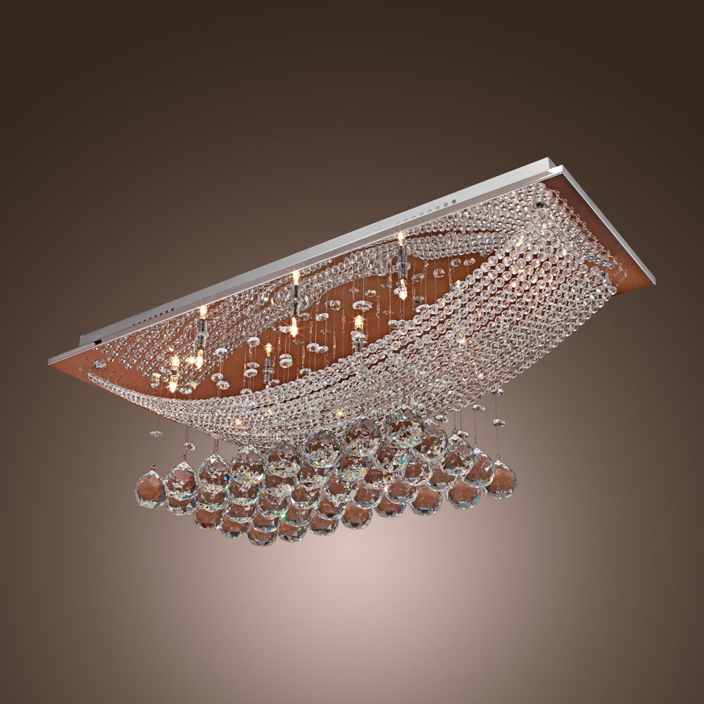 Crystal Chandeliers Ceiling Lights : Modern pendant ceiling light crystal lighting dining