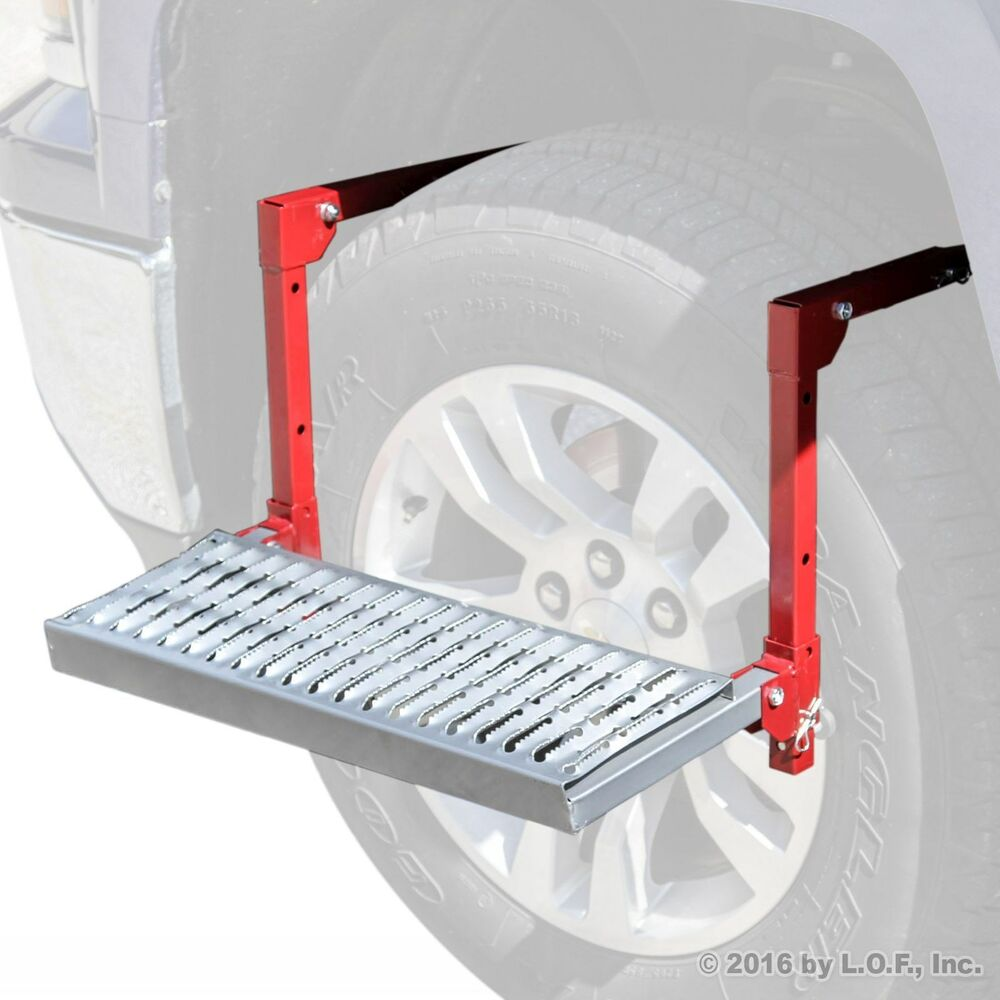 tire wheel step truck suv up adjustable folding non slip