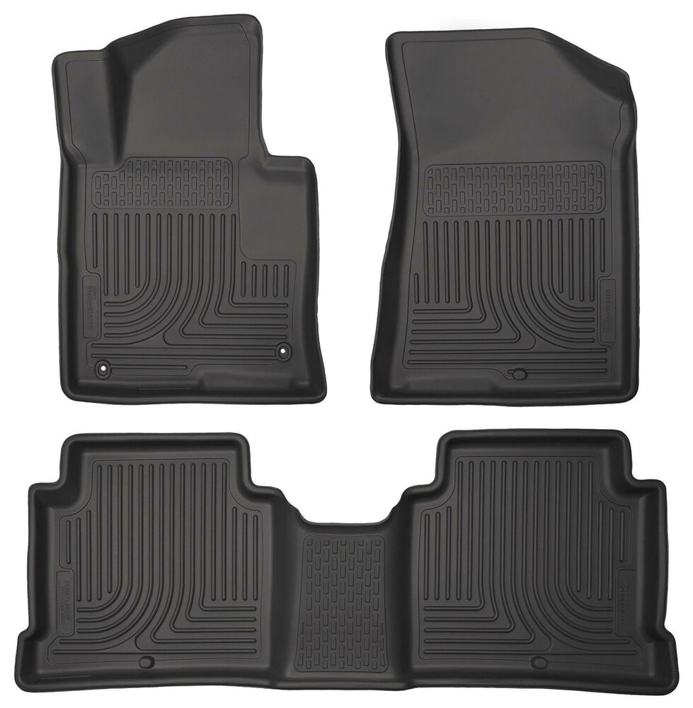 Husky Liners Floor Mat Front Amp 2nd Row Seat 3 Pcs Set For