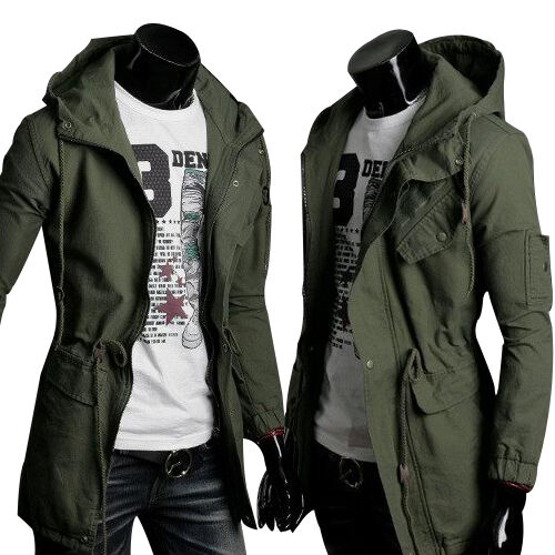 paul jone herren milit r winterjacke parka mantel jacke lang trenchcoat warme ebay. Black Bedroom Furniture Sets. Home Design Ideas