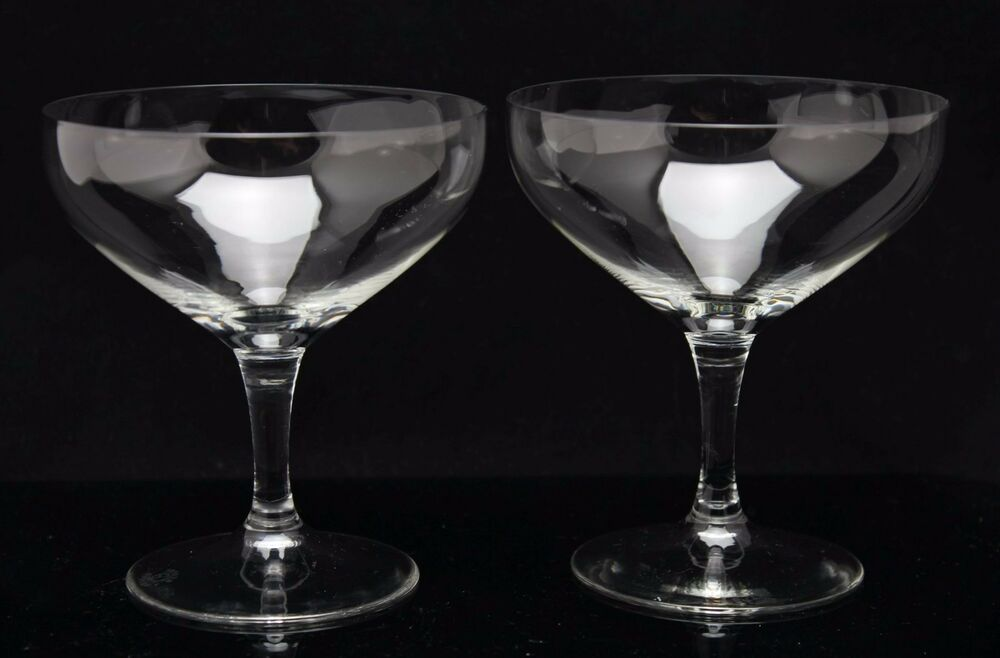 2x art deco 1917 crystal champagne coupe glass design k p bazel b glad ebay. Black Bedroom Furniture Sets. Home Design Ideas