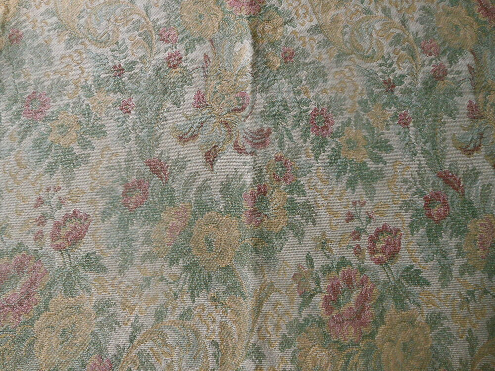Vintage retro french victorian floral tapestry fabric for Victorian floral fabric