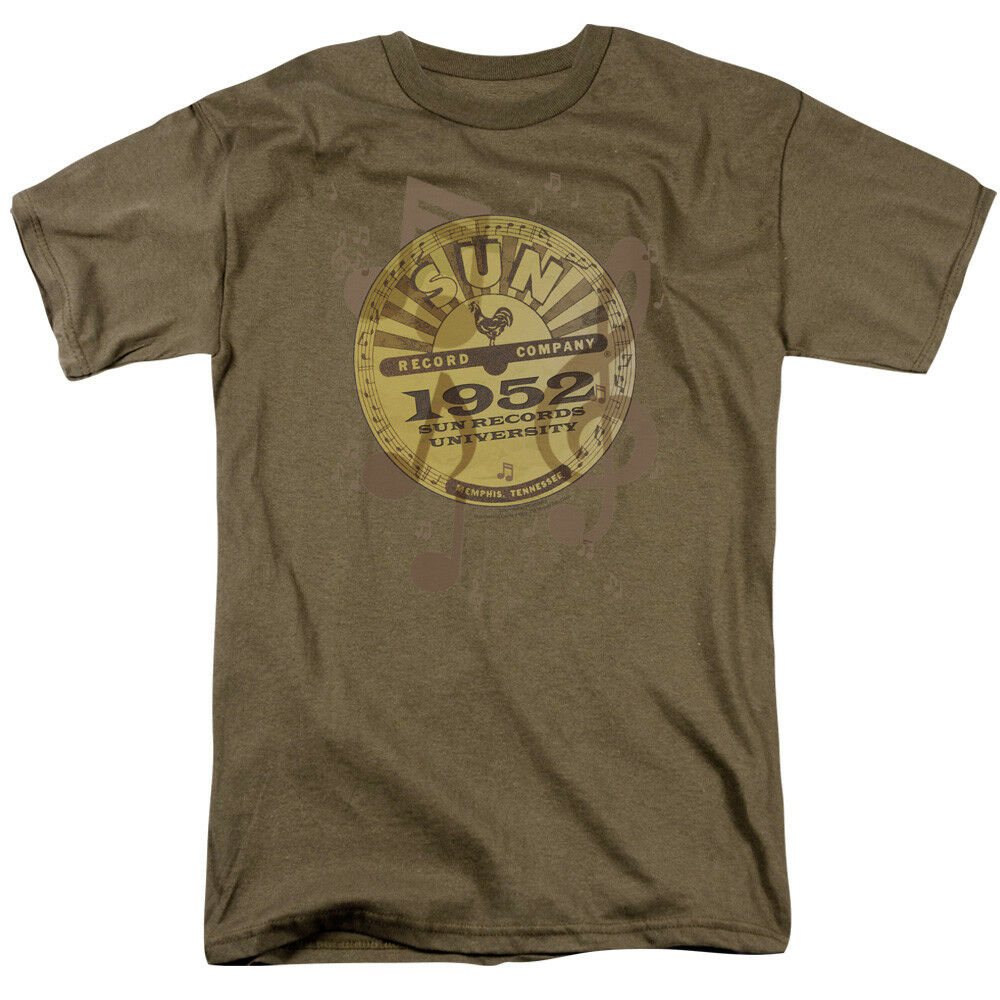 Sun records media company record label logo music adult t for Vintage record company t shirts