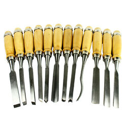 Kyпить 12 Piece Wood Carving Hand Chisel Tool Set Professional Woodworking Gouges Steel на еВаy.соm