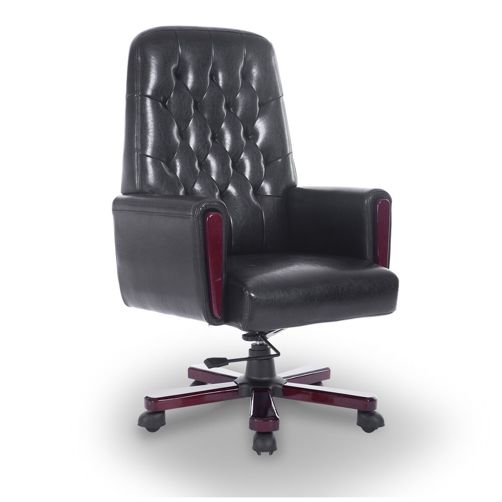 HOMCOM Office Chair High Back Executive Ergonomic Rocking ...