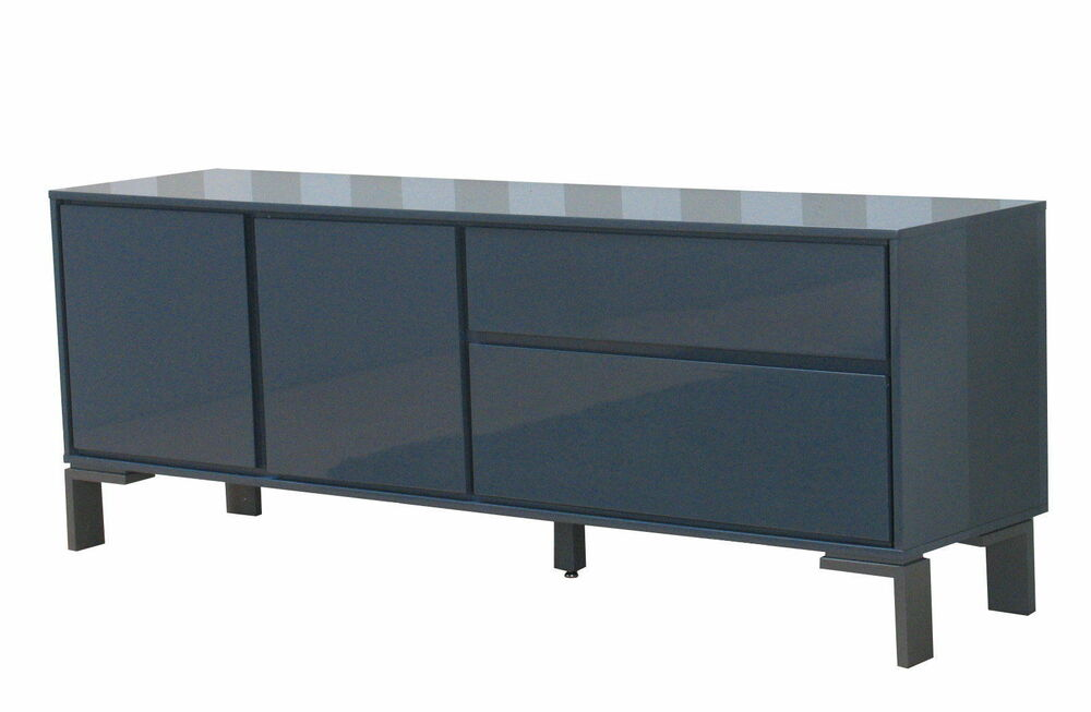 sideboard uptown hochglanz grau schubladen kommode schrank anrichte highboard ebay. Black Bedroom Furniture Sets. Home Design Ideas