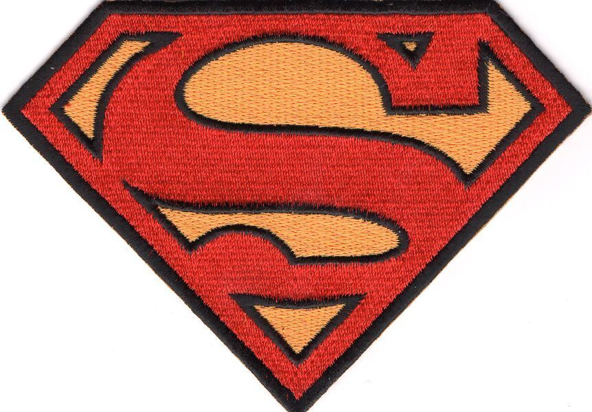 smallville ecusson logo symbole superman 12cm superman
