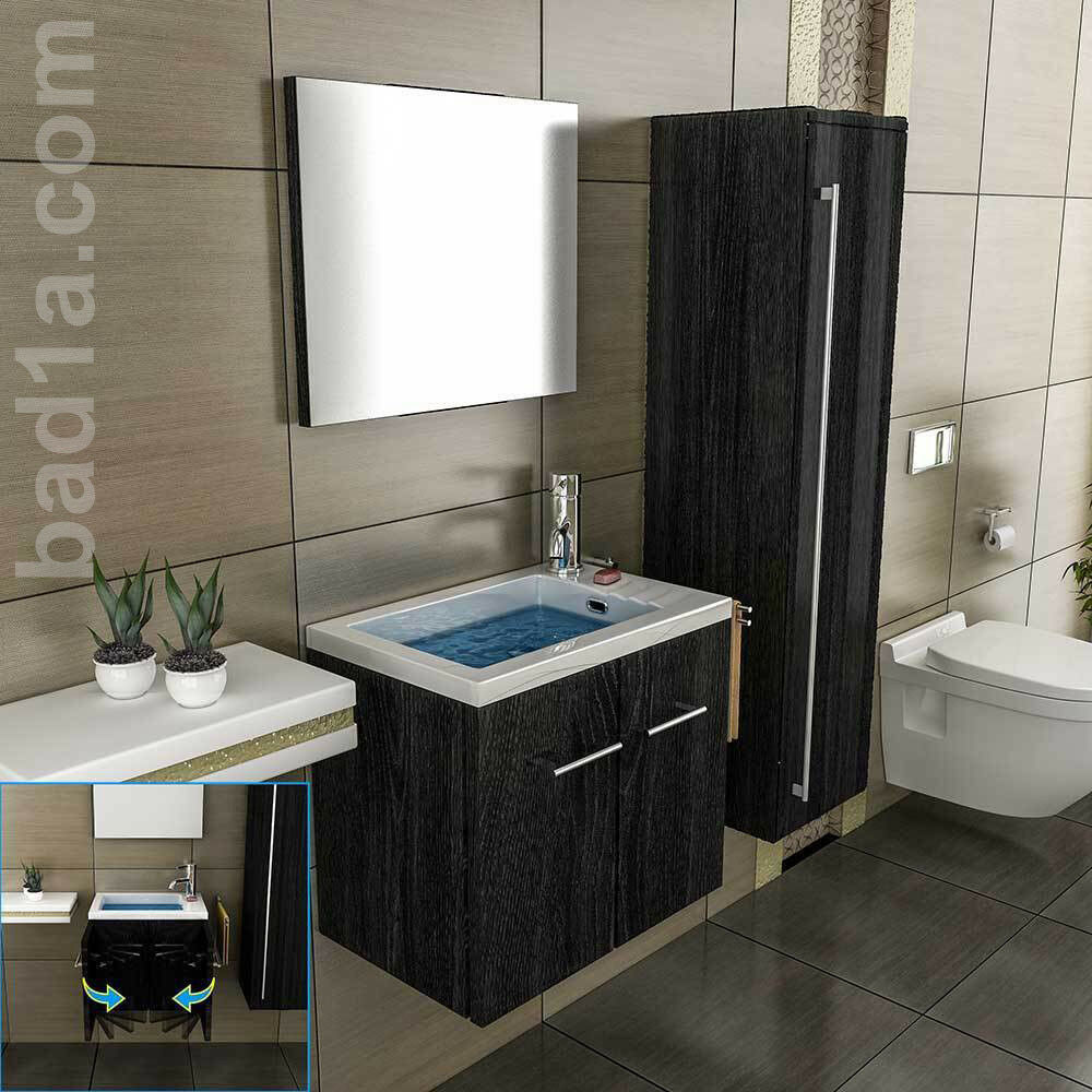 g ste wc mineralgussbecken mit unterschrank handwaschbecken waschtisch ebay. Black Bedroom Furniture Sets. Home Design Ideas