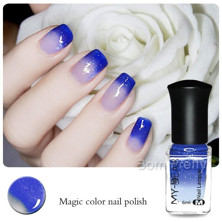 6ml Thermal Nail Polish Color Changing Peel Off Varnish