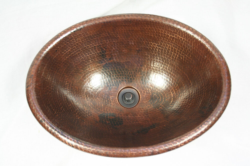 copper vessel bathroom sink 19 quot oval copper vessel bathroom sink with drain ebay 17896