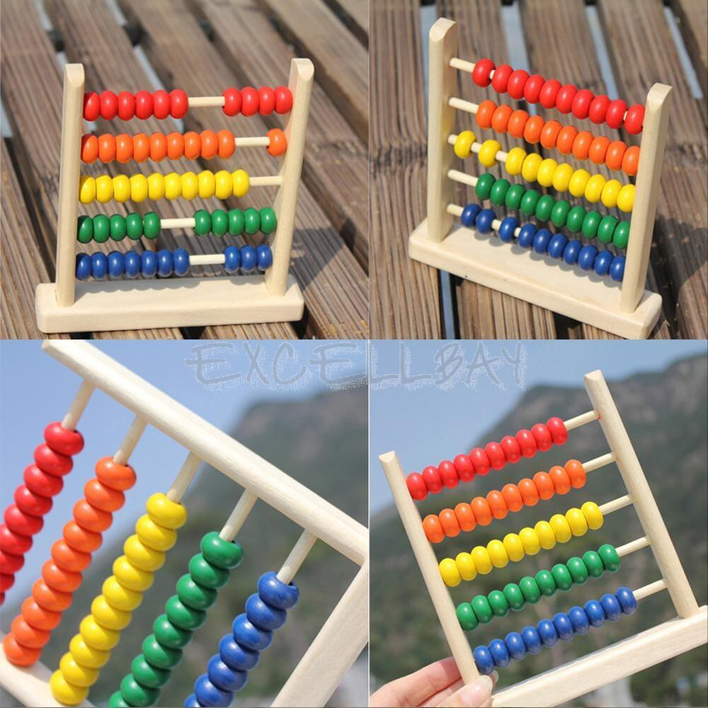 Wooden Learning Toys : Wooden beads abacus counting numbers maths educational