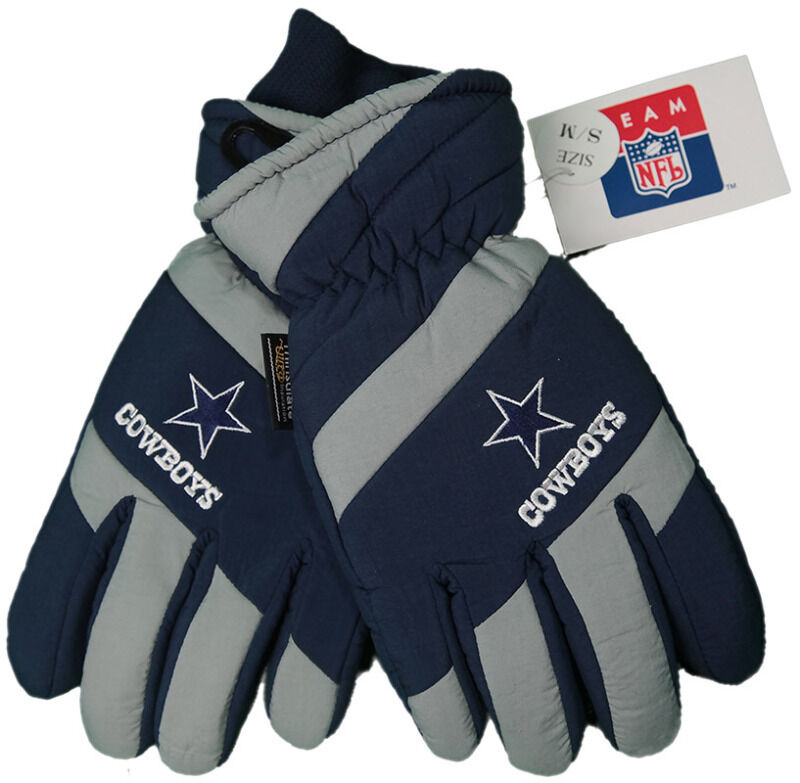 New! NFL Dallas Cowboys Gloves Embroidered logo  Leather Palm Mens OSFA S/M 124896159816  eBay