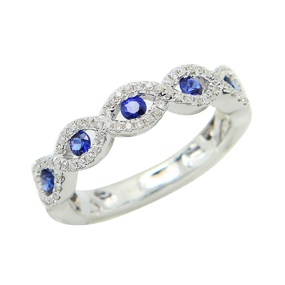 Sapphire Infinity Eternity Ring In K White Gold