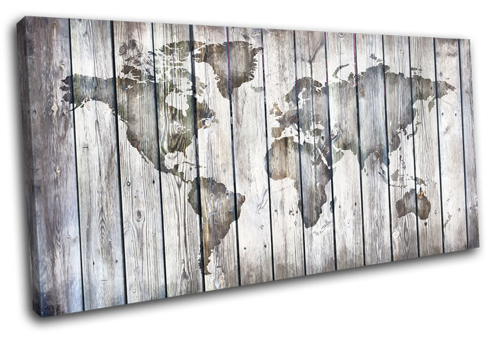 Antique Painting Canvas On Wood