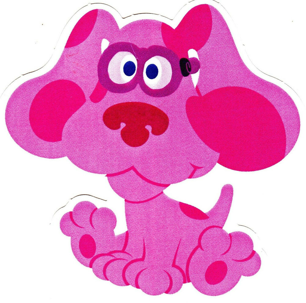 """4.5"""" BLUES CLUES MAGENTA WALL SAFE STICKER CHARACTER ..."""