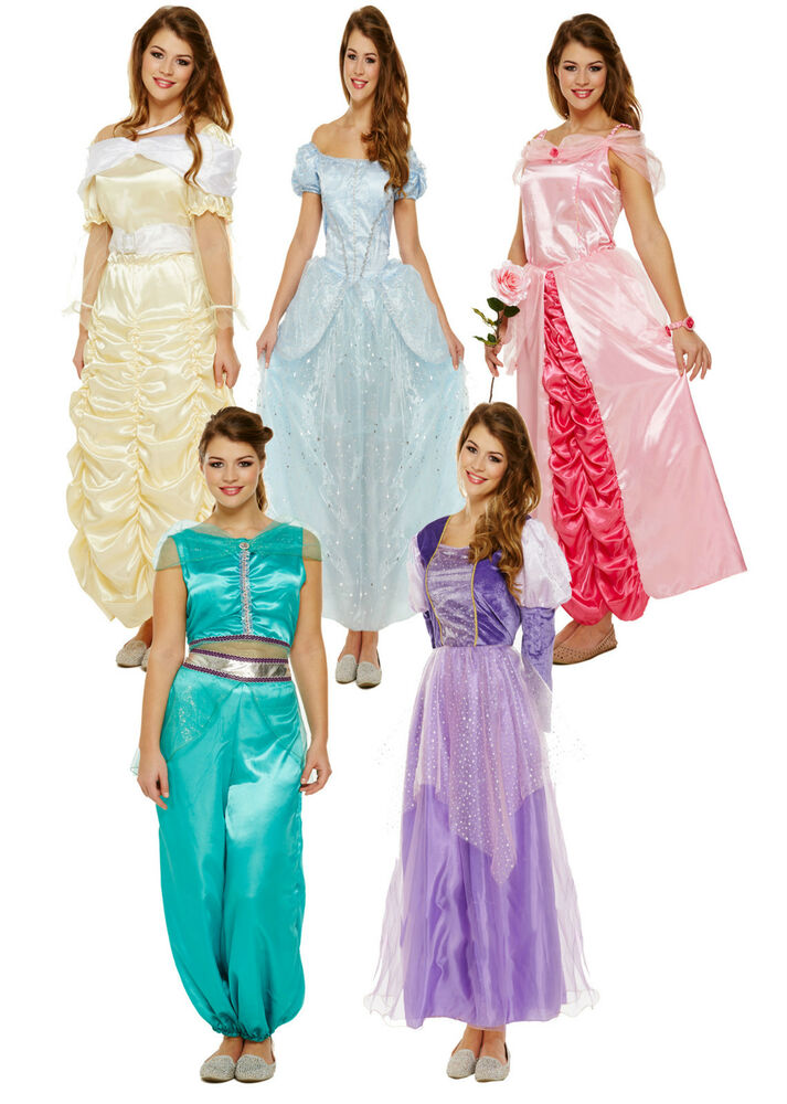 ladies adult princess costumes fairytale books womens fancy dress one size ebay. Black Bedroom Furniture Sets. Home Design Ideas