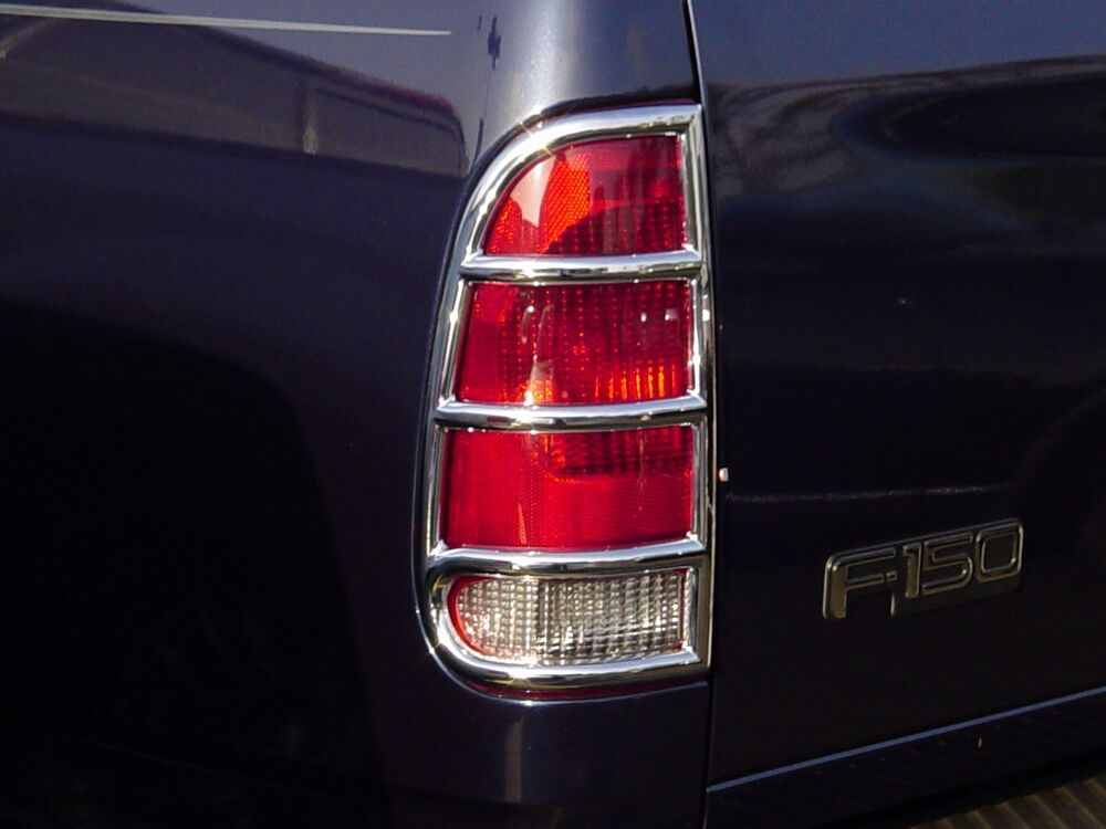 ford f150 truck 1997 2003 tfp abs chrome tail light cover accent ebay. Black Bedroom Furniture Sets. Home Design Ideas