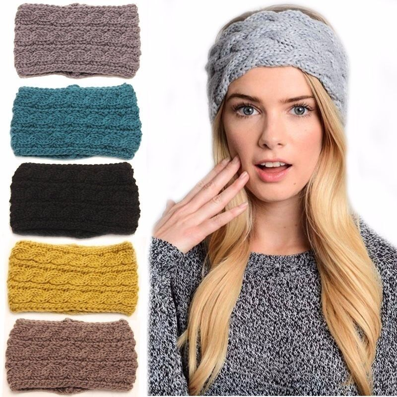 ... headband crochet winter warmer lady hairband Hair Band Ear Muff eBay