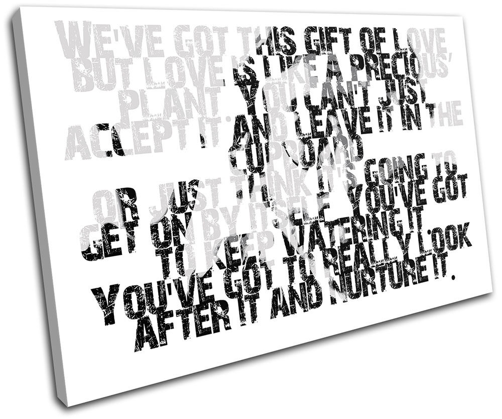 John Lennon Quote Iconic Celebrities Single Canvas Wall Art Picture