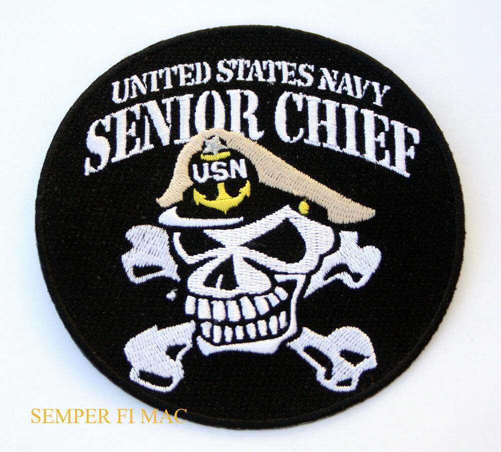 senior chief petty officer scpo e8 hat patch us navy uss