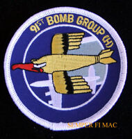 91ST BOMB GROUP US ARMY AIR CORPS AIR FORCE HAT FLIGHTSUIT PATCH WW2 AFB GIFT