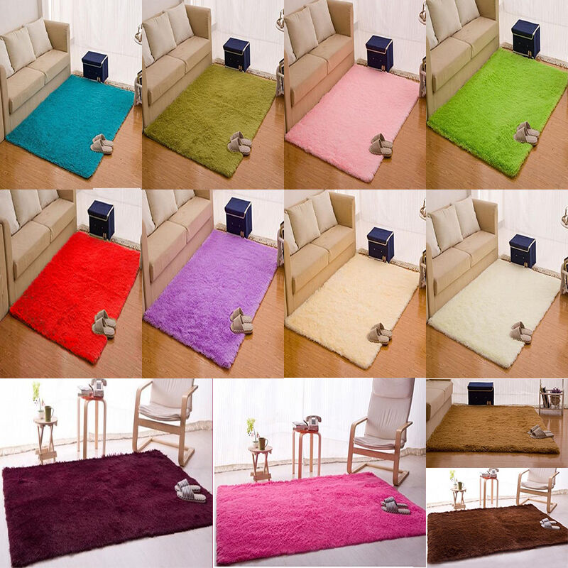 New Thicken Area Rug Shaggy Soft Plush Home Floor Mat Living Room Bedroom Carpet Ebay