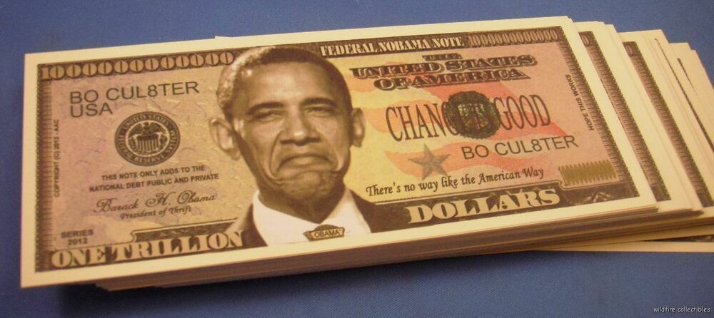 Wholesale Lot 100 Nobama Anti Obama Fake Novelty Money Us