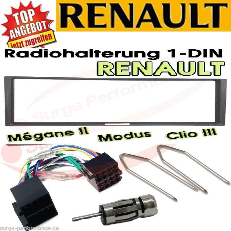 renault megane 2 scenic modus clio radio blende adapter kabel set ebay. Black Bedroom Furniture Sets. Home Design Ideas