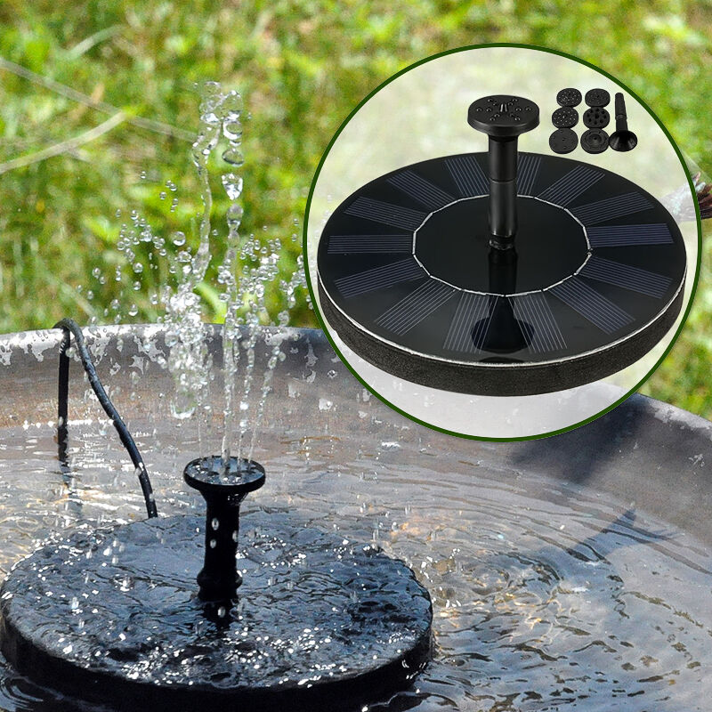Solar Panel Fountain: Water Floating Pump Solar Panel Power Fountain Pool Garden
