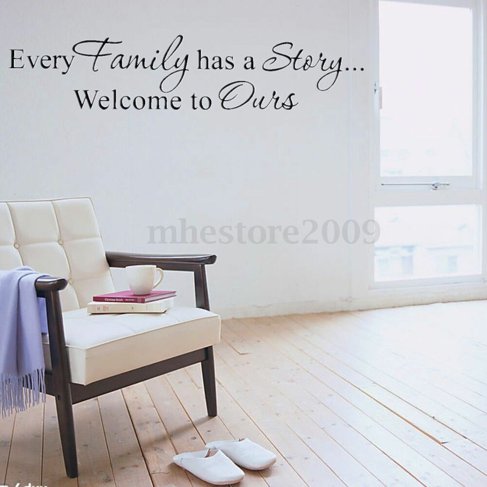 Motivational Inspirational Quotes: Quote Words Family Story Living Room Wall Decal Quote