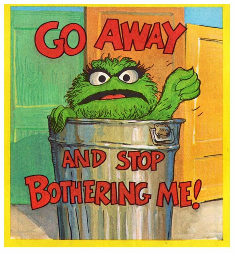 Oscar The Grouch Go Away Iron On Transfer 5 Quot X 5 5 Quot For