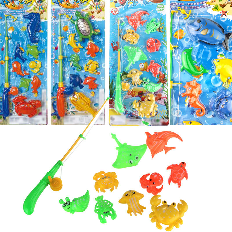 Educational fish pond game magnetic fishing pole rod for Toddler fishing game free