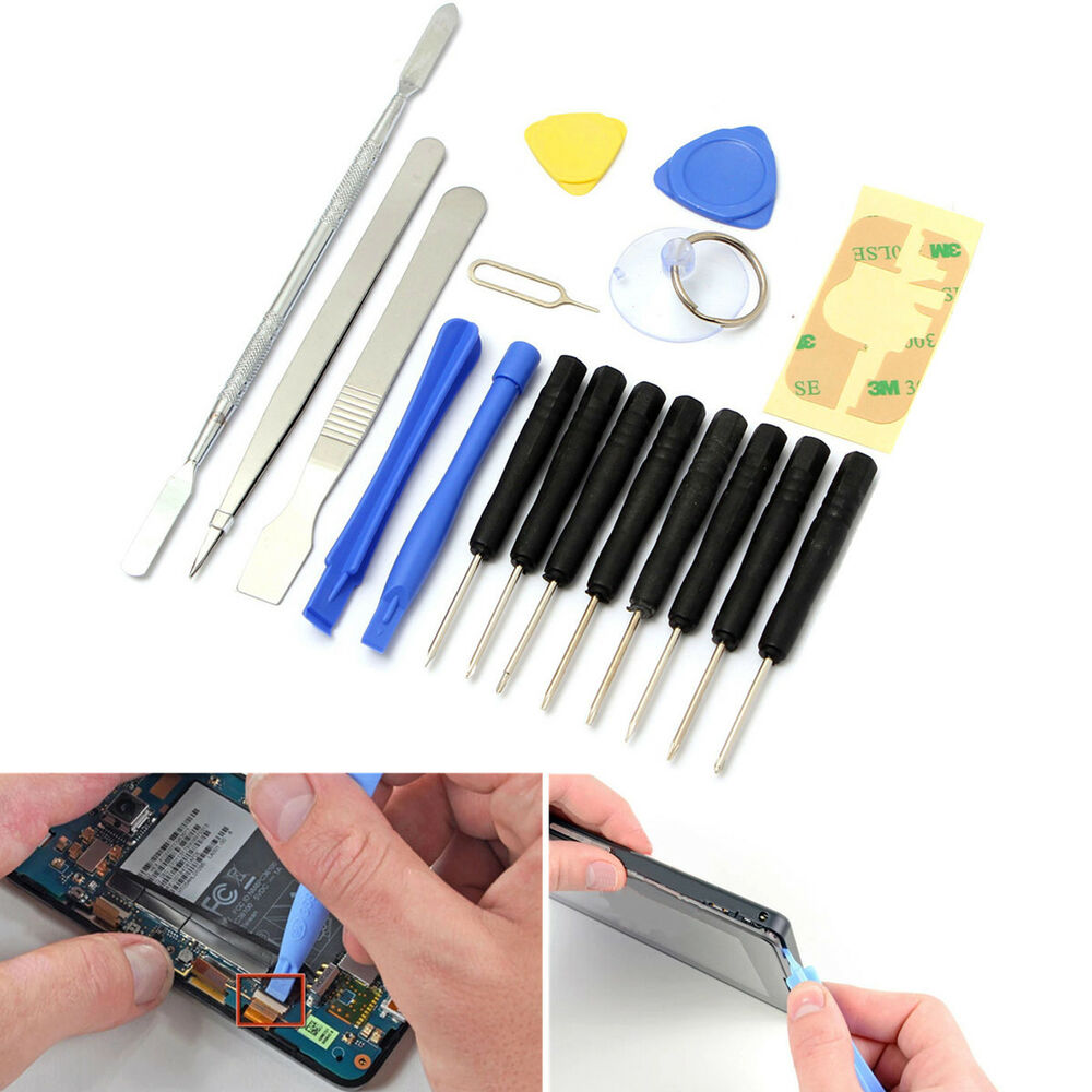 18 in 1 repair opening tools kit set pry screwdriver for iphone 6s 6 plus 5s 5 4 ebay. Black Bedroom Furniture Sets. Home Design Ideas