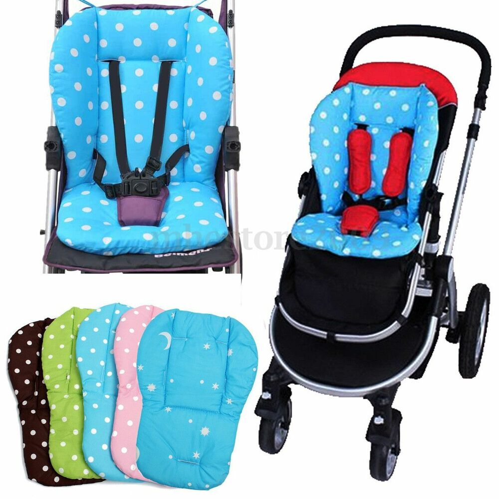 baby infant pushchair cushion thick colorful stroller car seat cotton cover mat ebay. Black Bedroom Furniture Sets. Home Design Ideas