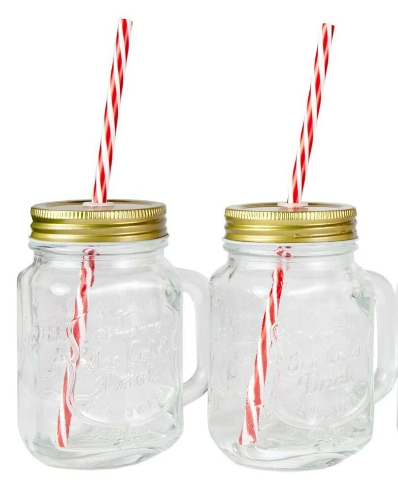 Jar Cups With Handles Mason Jar Mugs With Handle Tin Lid