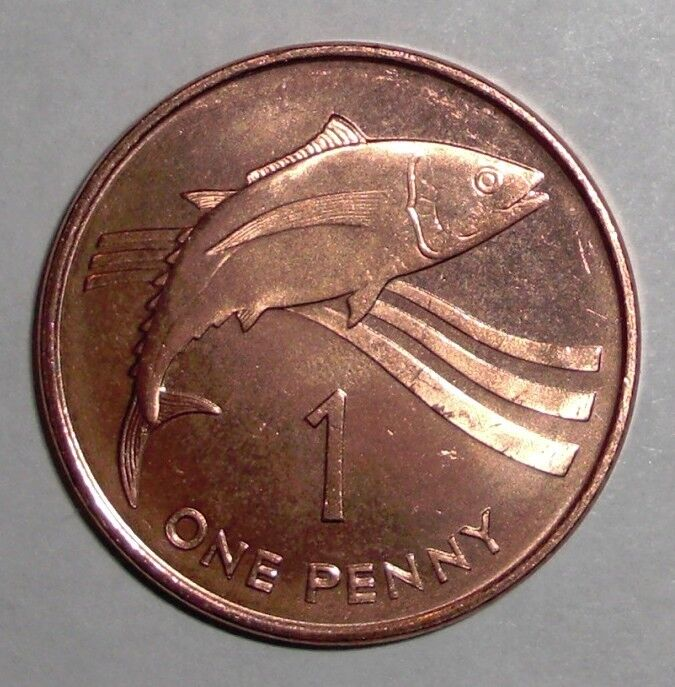 1997 St Helena 1 Penny Tuna Fish Animal Wildlife Coin Ebay