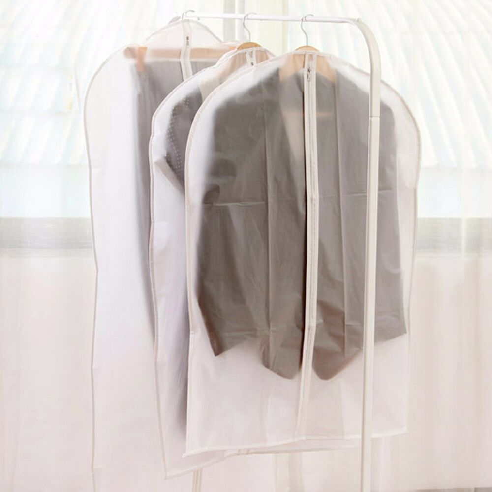 garment_Coat Clothes Garment Suit Cover Zipper Bags Dustproof Hanger Storage Protector | eBay