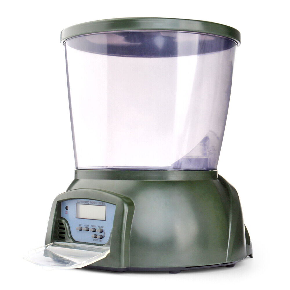 Automatic fish food feeder digital programmable 4 timer for Fish feeders for ponds
