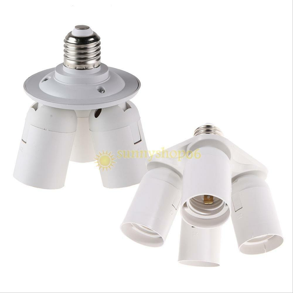 in 1 e27 base light lamp bulb adapter holder socket splitter for. Black Bedroom Furniture Sets. Home Design Ideas