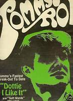 TOMMY ROE Rare 1968 PROMO POSTER AD Dottie I Like It