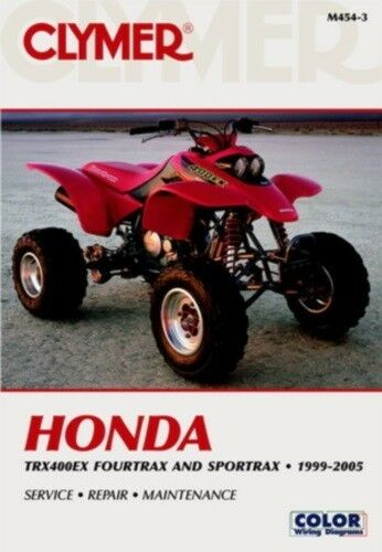 new honda trx 400ex 1999 2005 clymer shop repair manual ebay. Black Bedroom Furniture Sets. Home Design Ideas